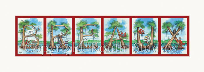 Customized Cypress Tree Lettering