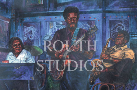 "Craig Routh, Artist & Illustrator - ""The Blues at Lou's"""