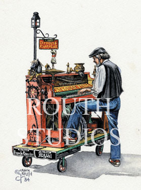 "Craig Routh, Artist & Illustrator - ""The Cathouse Piano Player"""