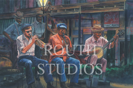 "Craig Routh, Artist & Illustrator - ""Dixieland in the French Quarter"""
