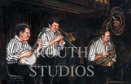 "Craig Routh, Artist & Illustrator -""The Old St. Louis Levee Band"""
