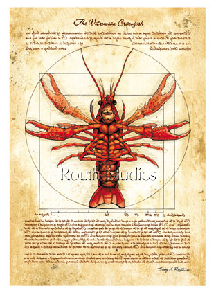 Craig Routh, Artist & Illustrator - The Vitruvian Crawfish""