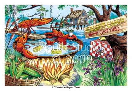 "Craig Routh, Artist & Illustrator - ""Crawfish Hot Tub"""