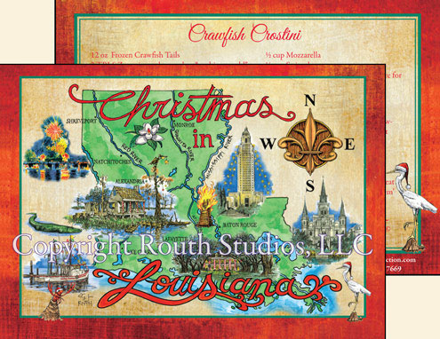 Louisiana State Christmas Cards