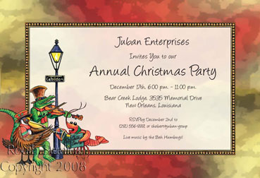 New Orleans French Quarter Invitations - Jackson Square Carolers Carolers in the French Quarter