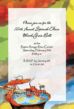 Crawfish Boil Invitations Louisiana Invitations - Cajun Invitations