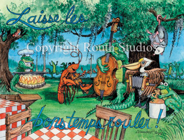 Louisiana Greeting Cards - Cajun Greeting Cards - Zydeco Band Cajun Band